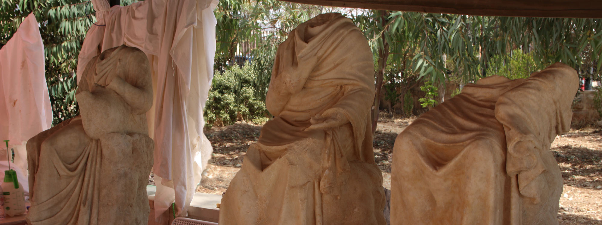 Skulpturenfunde in Jerash