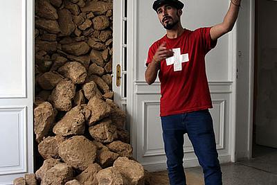 Mohamed Arejdal in Le Cube