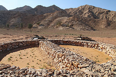 Tombs at the foot of Jebel Faya