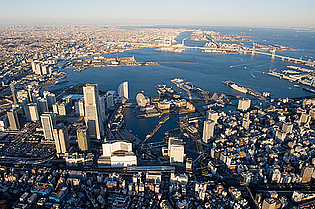 View of the city of Yokohama