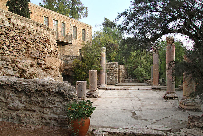 Main entrance, garden, archaeological site, ghorfa