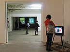 Television sets, and installation by Samir