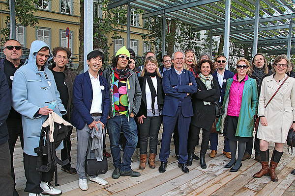 Mayor Renaat Landuyt & participants  / © Photo: Haupt & Binder