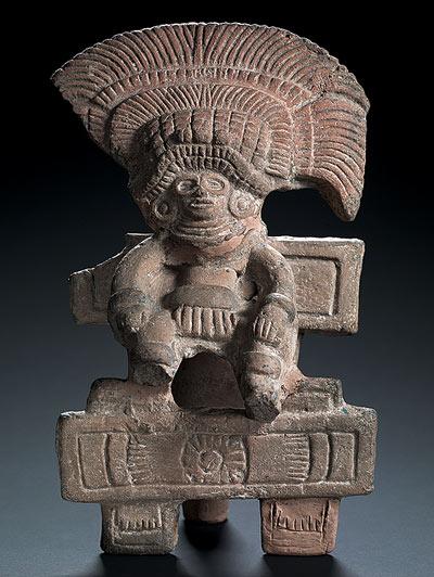 Figura Antropomorfa Sobre Un Trono Colecci N Teotihuac N