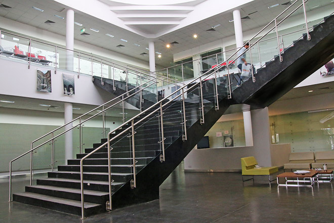 Foyer And Entryways University : Entrance hall access to the upper floor caad american