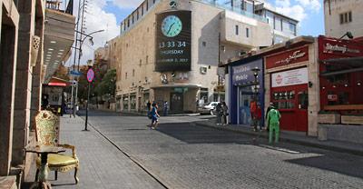 Die Rainbow Street entlang