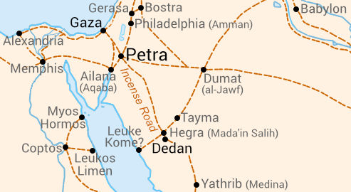 Trade route Dedan-Petra-Gaza