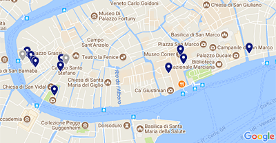 Pavilions And Exhibitions In San Marco Th Venice Biennale - Venice san marco map