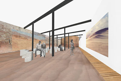 Design of the exhibition space