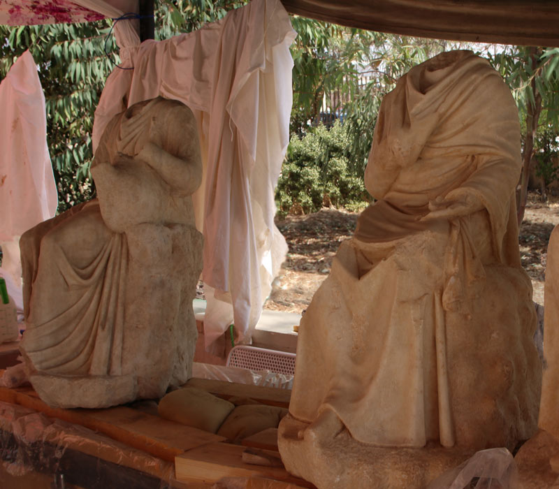 Sculpture findings in Jerash