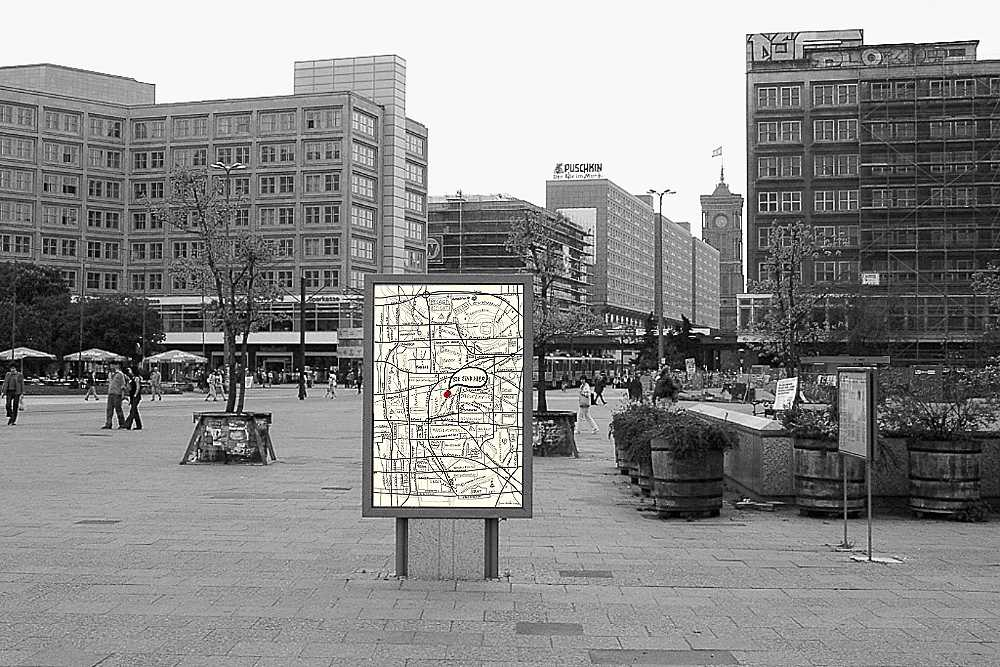 Jimmie Durham on Alexanderplatz, 2000. © Photo: Universes in Universe